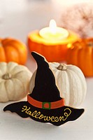 Pumpkins and witch´s hat biscuit