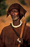 traditional hunter in Teli village, Mali, Dogon Country