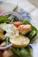 Trout Salad with Creamy Dressing