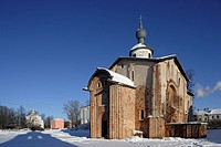 Church of St Parasceve in the Market Square (1113-1136), Yaroslav's Court, Commercial Quarter, Veliky Novgorod, Russia