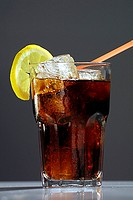 softdrink, glass of coke with ice, Coke
