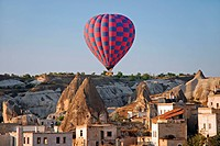 hot_air balloon over Cappadocia, Turkey, Cappadocia, Uchisar