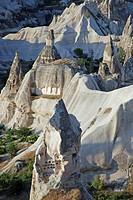 tuff stone landscape, Turkey, Anatolia, Cappadocia, Goereme