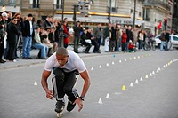 skater on Rue de la CitÚ, France, Paris