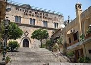 Facade of a nightclub, Taormina, Sicily, Italy