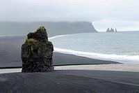 roch at the coast, Iceland, Suedkueste