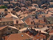 Dubrovnik, view on the old town, Croatia