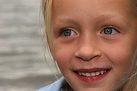 small blond girl with blue eyes, Germany