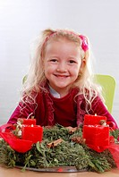 girl with Advent wreath