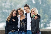A 16_year_old boy and three 16_year_old girls