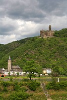 Maus Castle Burg Maus at Rhine, Germany, St. Goarshausen