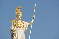 Statue of Pallas Athena, goddess of wisdom, Parliament in Vienna, Austria, Europe