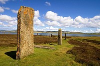 RING OF BRODGAR ORKNEY Neolithic standing stones circle Loch of Harray
