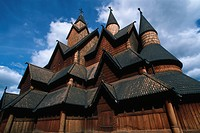 wooden stave church of Heddal, Norway