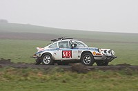 Porsche 911, built in 1974, vintage car, formerly driven at Safari Rallye, Vogelsberg Rallye 2008, Slowly Sideways, Hesse, Germany, Europe