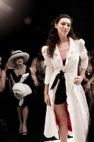 People on runway in fashion show