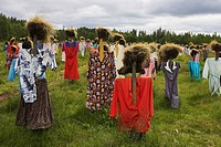 the silent peoples of Kainuu Reijo Kela, land art, Finland, Oulu, Suomussalmi
