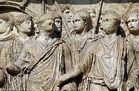 Benevento  Campania  Italy  Arco di Traiano triumphal arch erected in 114 to celebrate the achievements of Roman emperor Trajan