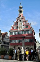 The old townhall on the Marktplatz Square, Esslingen/Neckar, Baden_Wuerttemberg, Germany, Europe