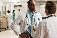 Doctors working together in hospital