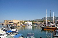 Kyrenia, town centre and marina, Northern Cyprus, Cyprus, Europe