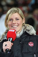 Arena Announcer from the 1. FC Kaiserslautern, Debbie Reuter.