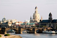 bank of the river Elbe in Dresden, Germany, Saxony, Dresden