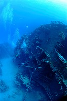 Two divers are about to explore the bow section of the Russion wreck Exact details of the origin and sinking of this ship have never been released how...