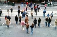 people crossing a street, Australia