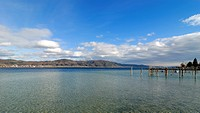 View of Lake Constance, Bodman-Ludwigshafen, Baden-Wuerttemberg, Germany, Europe