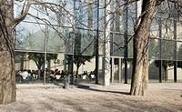 Museum cafe of the Pinakothek der Moderne, Munich, Bavaria, Germany