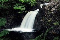 Eas chia_aig waterfall at Loch Arkaig