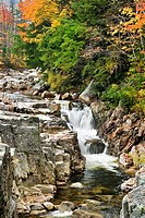 Rocky Gorge in fall along Kancamgus River, New Hampshire