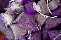 Lavender flowers packed in bags