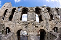 Arles, France, Exterior of the Arles antique Roman amphitheater's