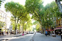 Cours Mirabeau in Aix_en_Provence, Provence_Alpes_Cote d'Azur, France