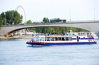 Rhone River, Cruise Ship in Avignon, Provence-Alpes-Cote d'Azur, France (thumbnail)