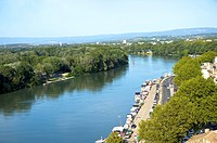 Rhone River in Avignon, Provence_Alpes_Cote d'Azur, France