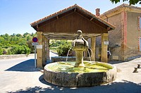 Fountain in Plateau De Valensole, Provence-Alpes-Cote d'Azur, France (thumbnail)