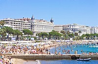Beach and Coastline in Cannes, Provence_Alpes_Cote d´Azur, France, Europe