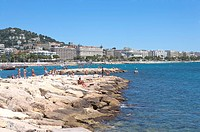 Beach, Cannes, Provence_Alpes_Cote d'Azur, France, Europe