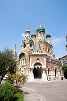 Russian Orthodox Cathedral, Nice, Cote d'Azur, Provence, France, Europe