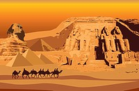 Egypt, Abu Simbel, Sphinx, UNESCO, World Cultural Heritage (thumbnail)