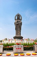 China, Hubei Province, Wuhan, Hanyang, Guiyuan Temple, Statue of Guanyin