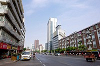 China, Hubei Province, Wuhan, Wuchang, City Street