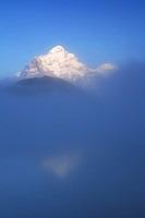 Wetterhorn, 3704m in mist, Switzerland, Bernese Oberland, Grindelwald, First