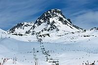 Chair lift, Ischgl, Idalpe, Tyrol, Austria, Europe