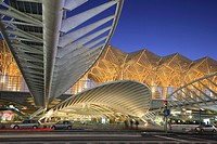 Oriente Railway Station, Nations Park, Lisbon, Portugal