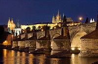 Charles Bridge and Castle of Prague, Hradschin, Prague, Czech Republic