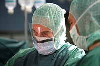 Surgeon during an operation